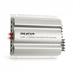 Auna C300.2, 4kanálový zesilovač, koncový zesilovač do auta, 1200W PMPO, 300W RMS, stříbrný