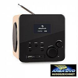 Auna Radio Gaga, internetové rádio, WLAN/LAN, DAB/DAB +, FM, USB, AUX, dub