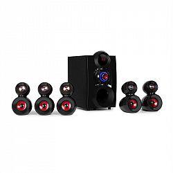 Auna X-Gaming, 5.1 surround zvukový systém, 380 W max., OneSide subwoofer, BT, USB, SD