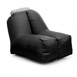 Blumfeldt Airchair, nafukovací křeslo, 80 x 80 x 100 cm, batoh, pratelné, polyester, černé