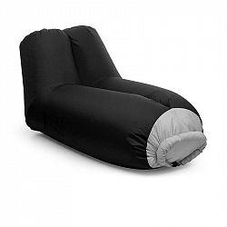 Blumfeldt Airlounge, nafukovací sedačka, 90 x 80 x 150 cm, batoh, pratelná, polyester, černá