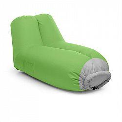 Blumfeldt Airlounge, nafukovací sedačka, 90 x 80 x 150 cm, batoh, pratelná, polyester, zelená