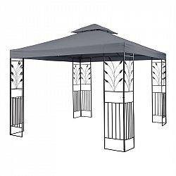 Blumfeldt Odeon Grey, zahradní pavilon, altán, 3 x 3 m, ocel, polyester, tmavě šedý