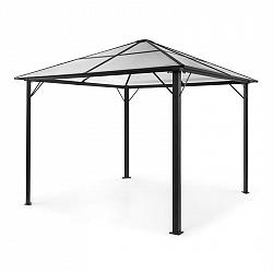 Blumfeldt Pantheon Solid Sky, altán se střechou, 3 x 3 m, polykarbonát, hliník