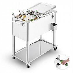 Blumfeldt Springbreak 2000, vozík na nápoje, chladící vozík na terasy, 80 l, ušlechtilá ocel
