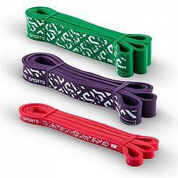 Capital Sports Resistor Set, rezistenční elastický pás, podpora při shybech, 3 kusy, stupeň zátěže 2, 5 a 7