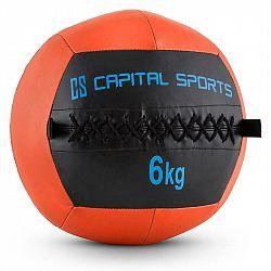 Capital Sports Wallba 6, oranžový, 6 kg, wall ball, syntetická kůže
