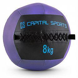 Capital Sports Wallba 8, fialový Wall Ball (medicinbal) z umělé kůže 8kg