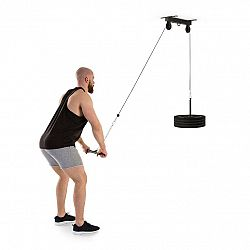 KLARFIT Hangman, kladka, stropní instalace, 2m kabel, tricepsová tyč, černá barva