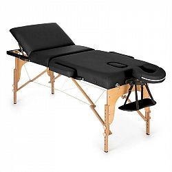 KLARFIT MT 500, černý, masážní stůl, 210 cm, 200 kg, sklápěcí, jemný povrch, taška