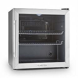 Klarstein Beersafe L, chladnička s objemem 50 l, energetická třída B, skleněné dveře, nerezová ocel