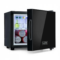 Klarstein Frosty, mini chladnička, energetická třída A, dveře se zrcadlovým sklem, 10 litrů, černý