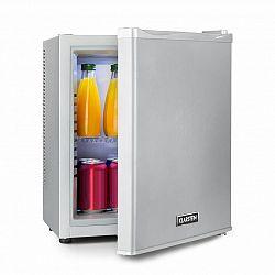 Klarstein Happy Hour 19, minibar, 19 l, 5–15°C, energetická třída A, tichý, 0 dB, LED světlo, stříbrný