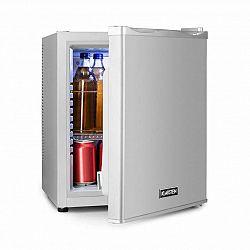 Klarstein Happy Hour 25, minibar, 25 l, 5–15°C, energetická třída B, tichý, 0 dB, LED světlo, stříbrný