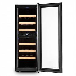 Klarstein Reserva Duett 12, 65 litrů, 21 lahví, chladnička na víno, 2 zóny