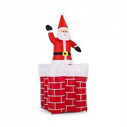 OneConcept Merry Surprise, 180 cm, nafukovací vánoční dekorace, komín se Santa Clausem, LED