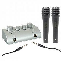 Skytec Mini, 2-kanálový karaoke mixážní pult,2 mikrofony