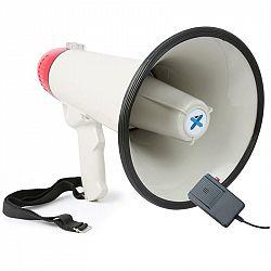 Vexus MEG040, megafon, 40 W, siréna, mikrofon, provoz na baterie, popruh